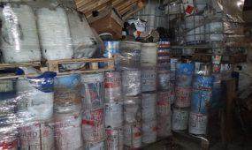 Pavojingos atliekos išpiltos į gruntą