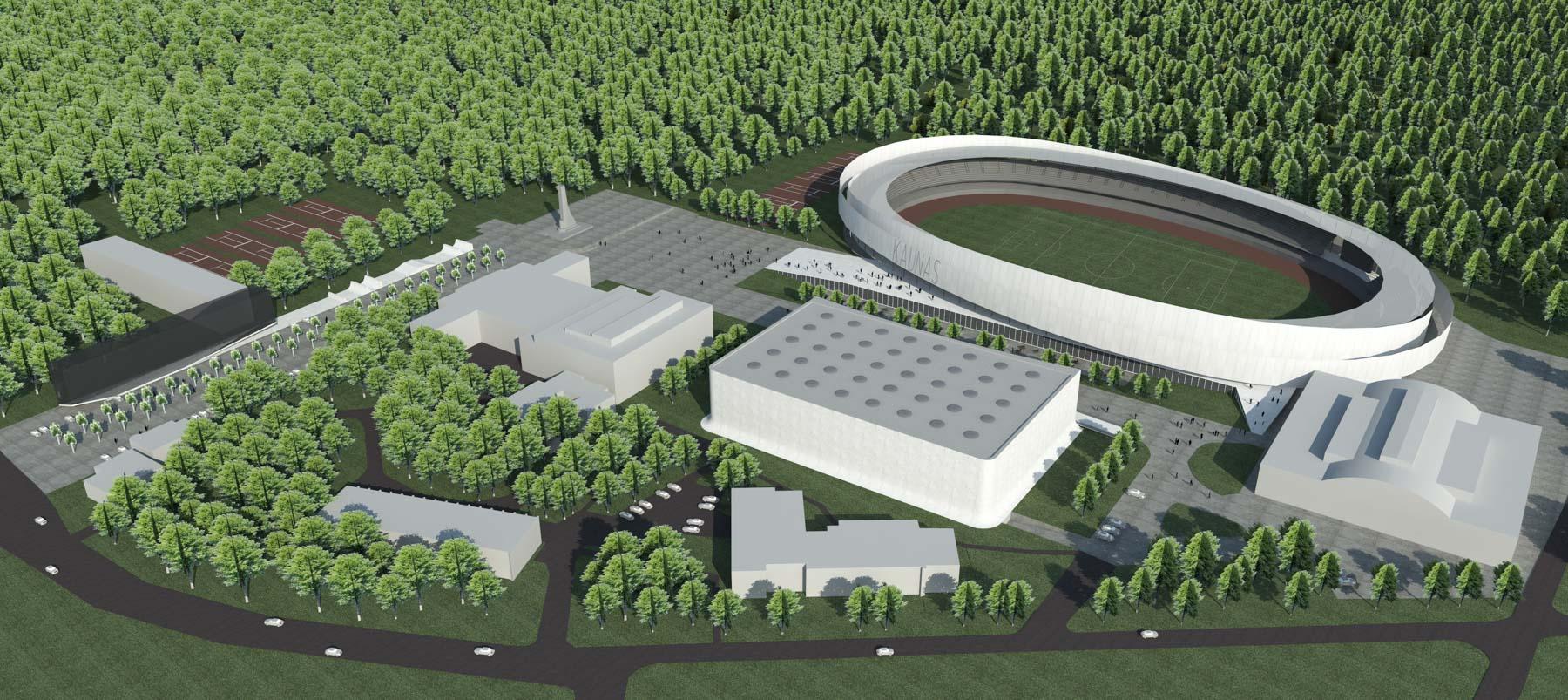 Dariaus ir Girėno stadiono vizualizacijos