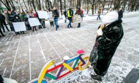 Piketas prie Kauno miesto savivaldybės