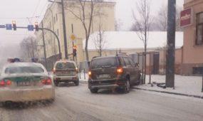 Apsnigtos Kauno gatvės