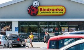 """Parduotuvė """"Biedronka"""" Seinuose, Lenkijoje"""