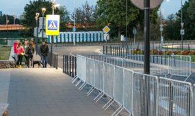 Blokuotas eismas Senamiestyje