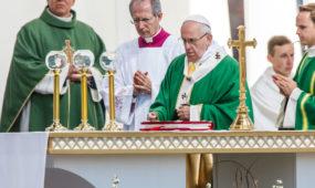 Popiežiaus aukojamos šv. Mišios Santakos parke
