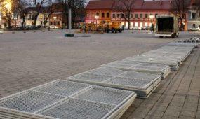 Kauno kalėdinės eglutės statymo darbai 2018
