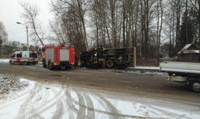 Trijų automobilių avarija Biruliškių gatvėje