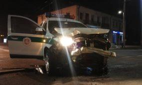 Policijos ekipažo avarija Savanorių prospekte