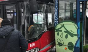 Autobuso ir troleibuso avarija S. Žukausko gatvėje