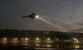 Karinių oro pajėgų sraigtasparnis virš Kauno