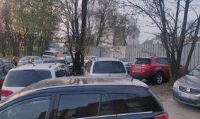 """Automobilių aikštelė prie """"Žalgirio"""" arenos"""