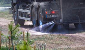Sunkvežimiai Žemuosiuose Šančiuose