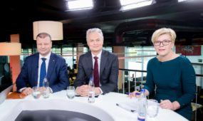 S. Skvernelio, I. Šimonytės ir G. Nausėdos debatai