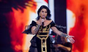 """Albanijos atstovės pasirodymas """"Eurovizijoje"""""""