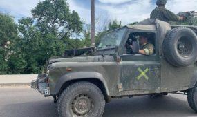 Kariuomenės visureigis Panemunėje