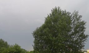 Audros debesys Kaune