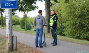 Policijos reidas dviratininkams ir paspirtukininkams