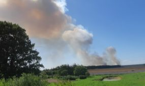 Didelis gaisras Vandžiogaloje
