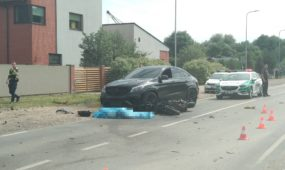 Panerių gatvėje žuvo motociklininkas