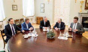 G. Nausėdos susitikimas su valdančiųjų partijų lyderiais