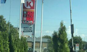 """""""Circle K"""" degalinių kuro kainos Muravos sankryžoje"""