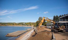 Irklavimo bazės statybos Lampėdžio ežere