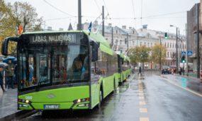 "Kaune pristatyti nauji ""Solaris"" troleibusai"