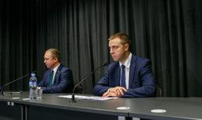 """""""Žalgirio"""" spaudos konferencija"""