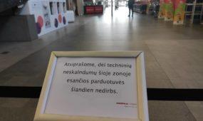 """Kauno """"Akropolyje"""" uždarytos parduotuvės"""