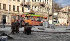 E. Ožeškienės gatvėje sudaužytas šviesoforas