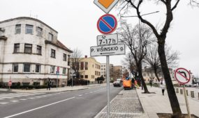 Kelio ženklai Žemaičių gatvėje