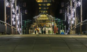 Kalėdiniai papuošimai Kauno gatvėse