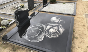 3D stikliniai antkapiai, kapinės