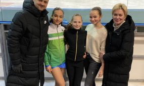 (Iš kairės) D. Kozlov, J. Aglinskytė, A. Ivanovaitė, D. Reginevič, L. Vitkauskienė