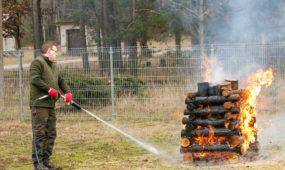 Nauja miškų gaisrams gesinti skirta mobili technika