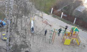 Vaikai žaidimų aikštelėje