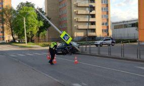 """""""Audi"""" avarija Pašilės gatvėje"""