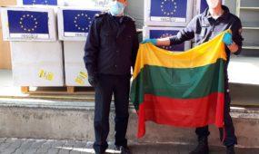 Respiratorių siunta iš Rumunijos