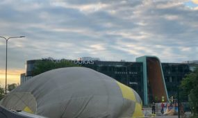 Avarinis oro baliono nusileidimas Jonavos g.