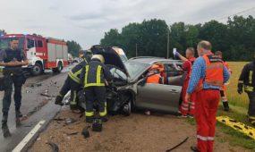 Už Balbieriškio susidūrė keturi automobiliai