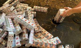 Ugnyje supleškėjo beveik 80 tūkst. pakelių cigarečių