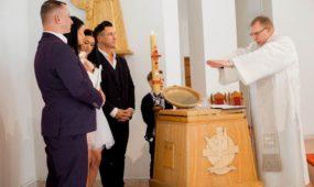Sauliaus Skambino dukros krikštynos