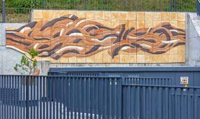 Keramikinė meninė instaliacija Užupio etiuduose