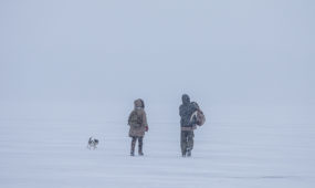 Pramogos ant marių ledo