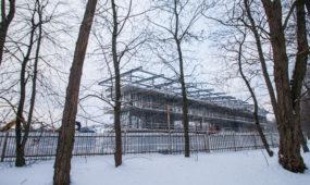 Stadiono statybos Ąžuolyne
