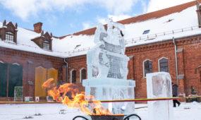 Vyčio ledo skulptūra Raudondvaryje