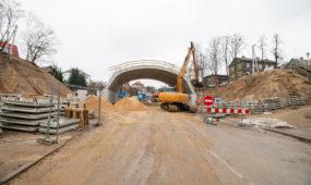 Viaduko statybos R. Kalpoko gatvėje