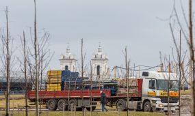 Statybos Nemuno saloje