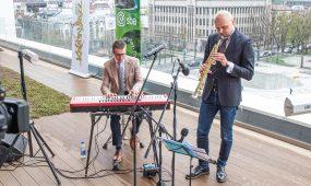 Kaunas Jazz ant BLC stogo