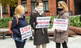 Protestas prieš mokinių testavimą