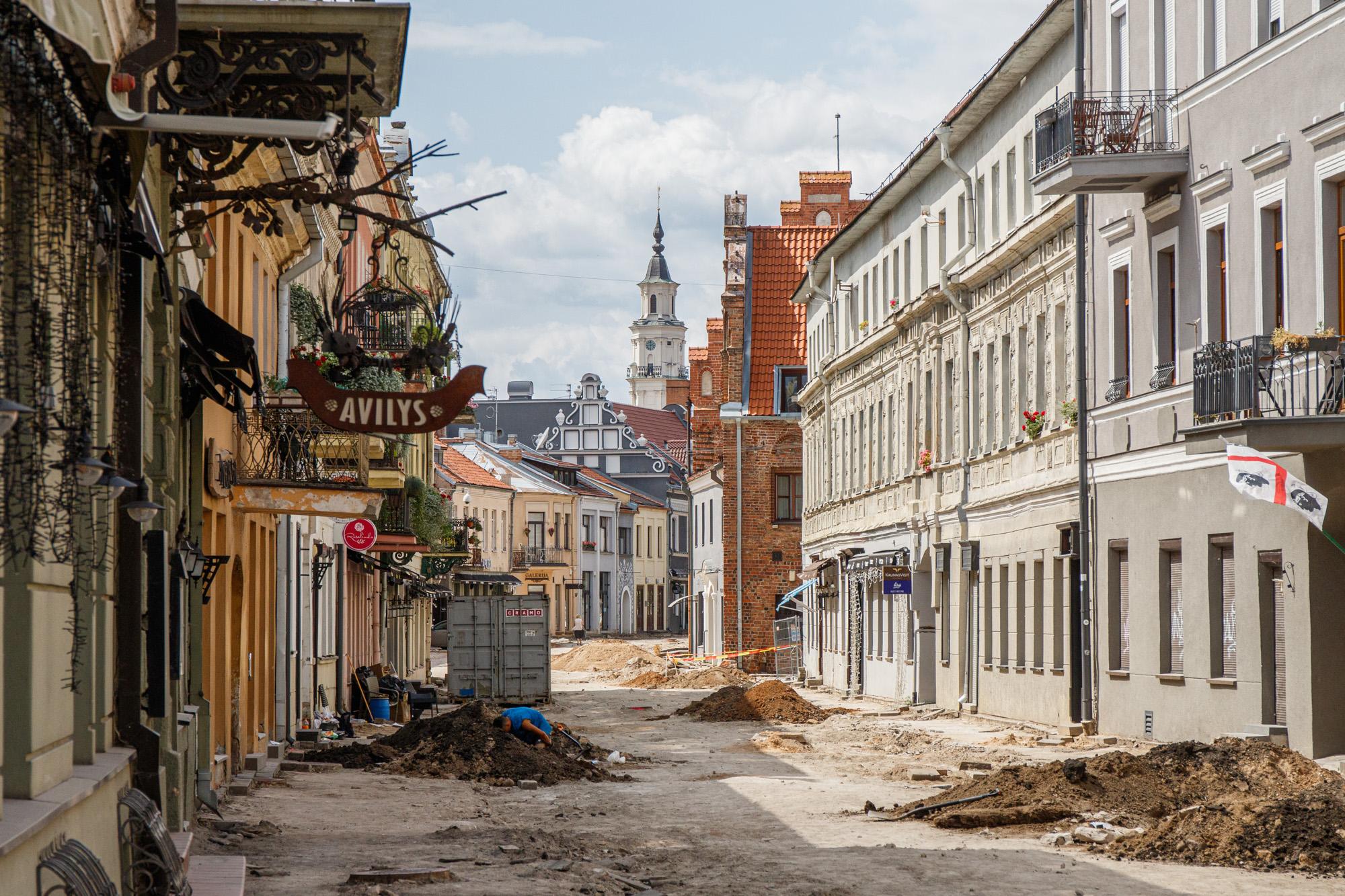 Archeologiniai kasinėjimai Vilniaus gatvėje